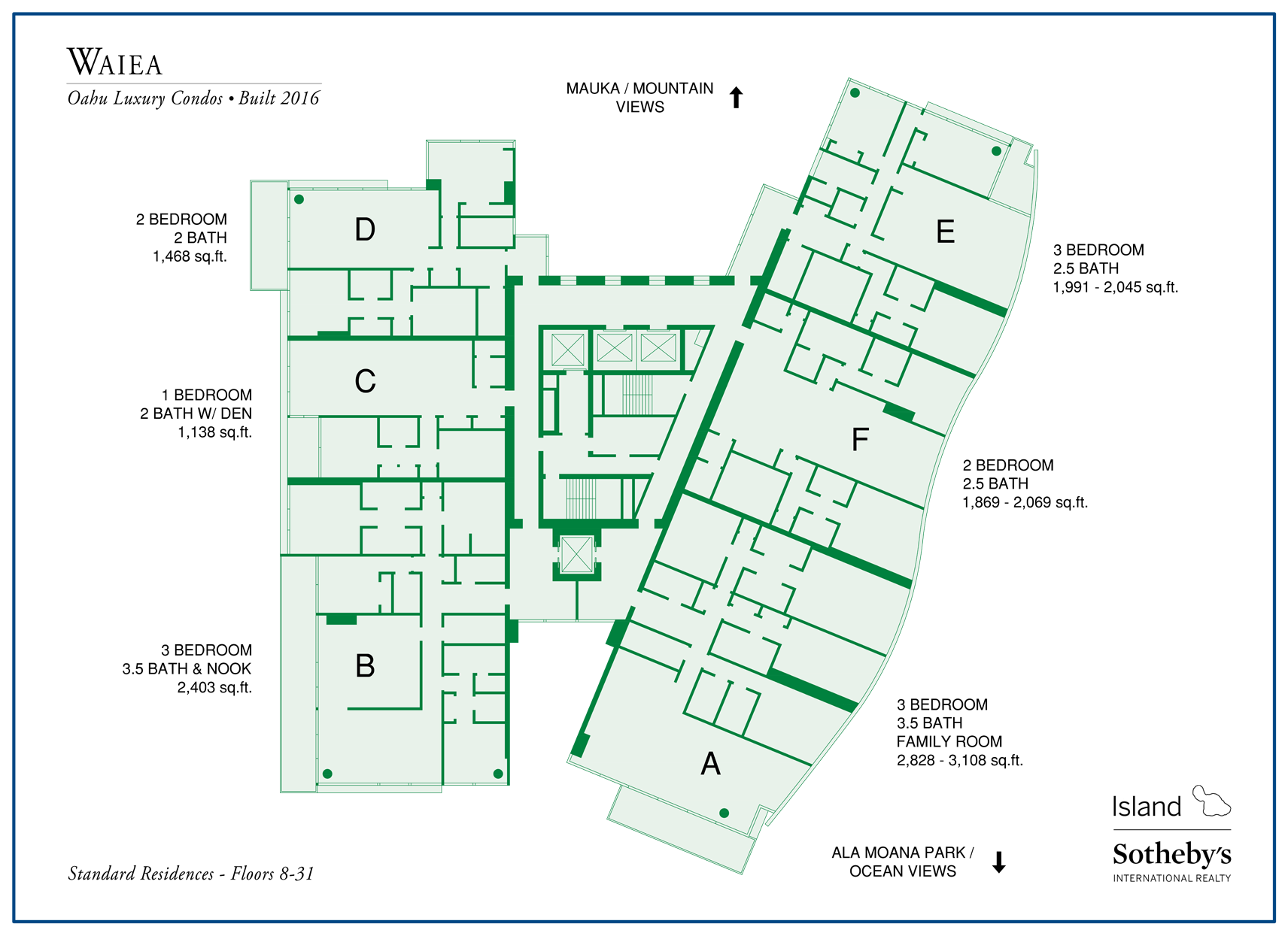 Waiea Condominium Map